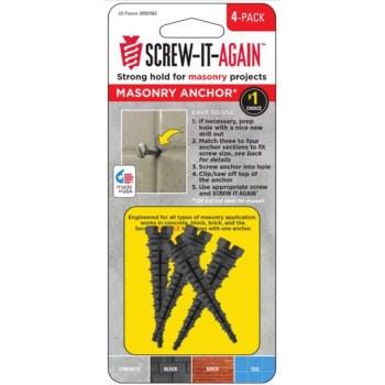 Screw-It-Again SIA-4PK-M Masonry Anchors