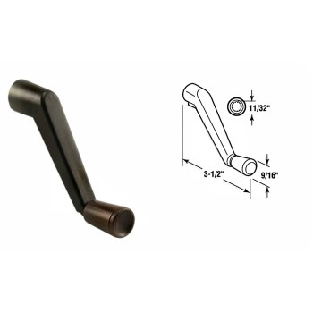 Casement Operator Crank Handle, Bronze Finish ~ 11/32""