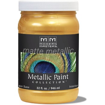 Matte Metallic Paint ~ Gold Rush, Quart