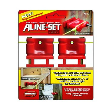 Aline-Set Gauge Blocks ~  Two Units Per Pack