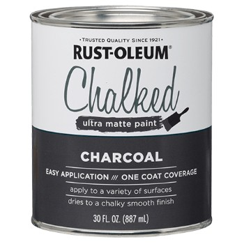 Chalked Ultra Matte Paint, Charcoal ~ 30 oz