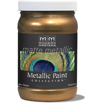 Matte Metallic Paint ~ Blackened Bronze, 6 oz