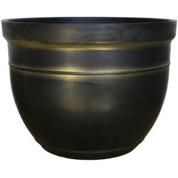 Madison Series Planters, Black & Gold ~ 15""