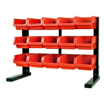Wilmar Corp W5186 15 Bin Table Top Storage Rack