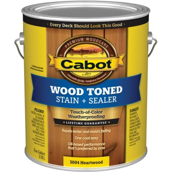 Wood Toned Deck & Siding Stain, Pacific Redwood ~ Gallon