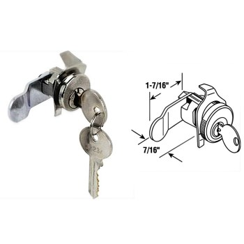 Mail Box Lock ~ Nickel Finish