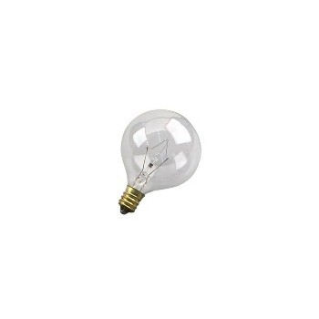 Feit Elec. BP25G161/2 Light Bulb, Globe Clear 120 Volt 25 Watt