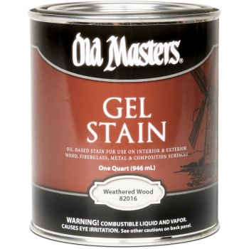 Gel Stain, Weathered Wood ~ Quart