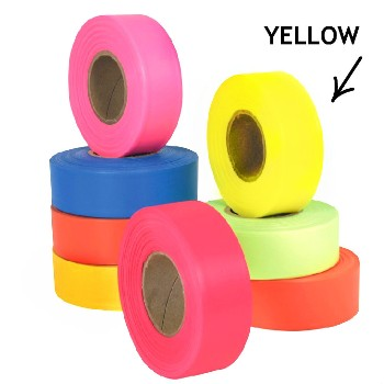 Flagging Tape, Yellow - 1 inch x 150 feet