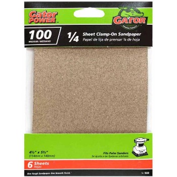 Ali Industries 5032 100 Grit 1/4 Sandpaper ~ 6 Pack