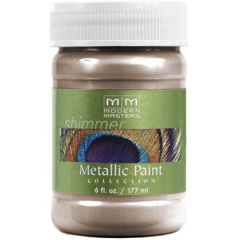 Metallic Paint, Warm Silver ~  6 Ounce