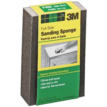 3M 051115004904 Sanding Sponge - Flexible, Fine Grit