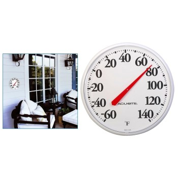 Chaney/AcuRite 01360 Indoor/Outdoor Thermometer, Basic Dial ~ 12.5""
