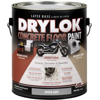 UGL 21413 Drylok  Concrete Floor Paint, Dover Gray ~  Gallon