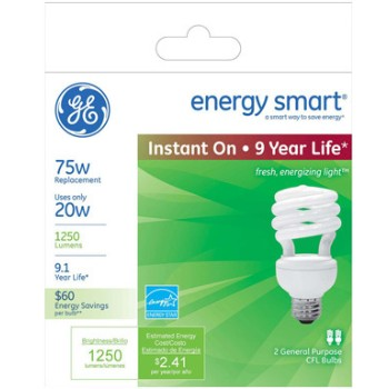 Ge 20/75w Soft Wh Cfl