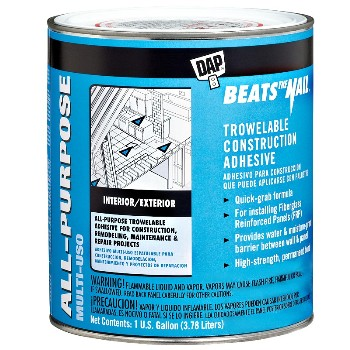 DAP 25488 Beats the Nail, Trowelable Adhesive