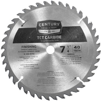 7-1/4in. 40t Carbide Blade