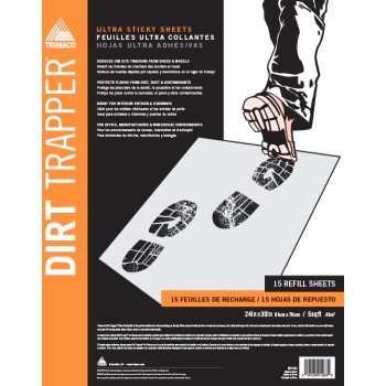 Dirt Trapper Sticky Mat Refills ~ Pack of 30