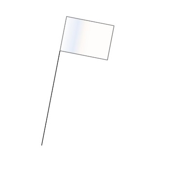 Marking Flag, White
