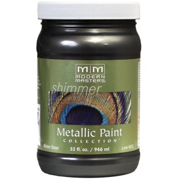 Modern Masters ME700-32 Metallic Paint, Black Pearl 32 Ounce
