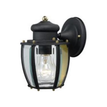Hardware House  544288 Outdoor Light Fixture - Wall Mount - Textured Black
