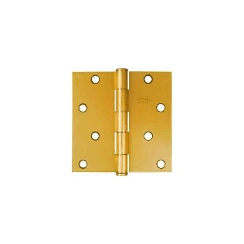 Satin Brass Door Hinge, Visual Pack 512 4 x 4 inches