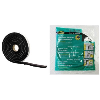 "Marine & Auto Weatherstrip, Self Adhesive Tape ~  3/8"" x 3/4"" x 10 Ft"
