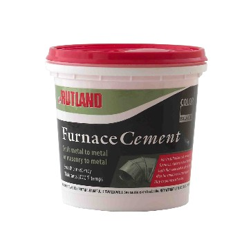 Furnace Cement,  Black ~ Quart