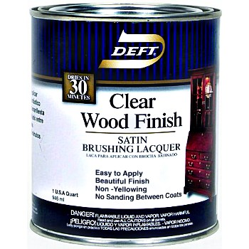 Clear Wood Finish-Brushing Lacquer, Satin ~ Quart