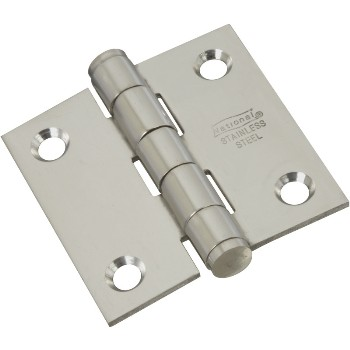 "Stainless Steel Door Hinge,  2"" x 2"""