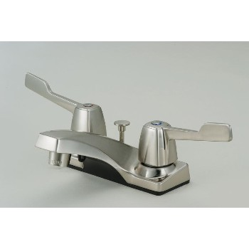 Two Handle Lavatory Faucet Satin Nickel