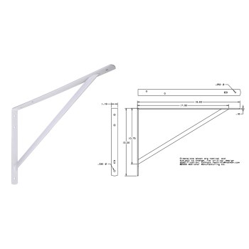 White Shelf Bracket, 111 bc 20 inches