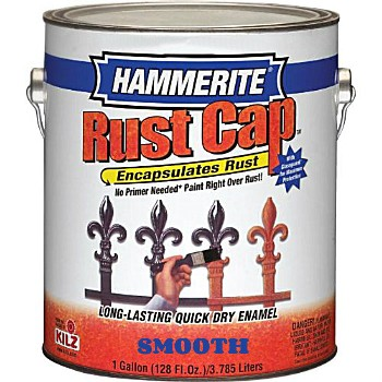 Rust Cap Smooth Enamel Finish, White ~ One Gallon