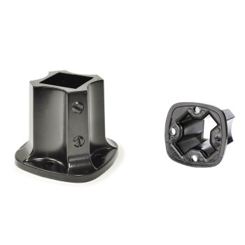 "LL Bldg Prods FF125 Newel Post Flange, Black ~ 1-1/4"" x 1-1/4"" (I.D.)"