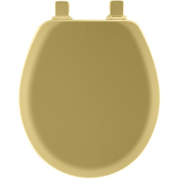 Toilet Seat, Round Molded Wood ~ Gold