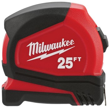 Milwaukee Brand Compact Tape Measure ~ 25 Ft
