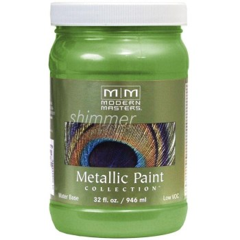 Modern Masters ME706-32 Metallic Paint, Green Apple 32 Ounce