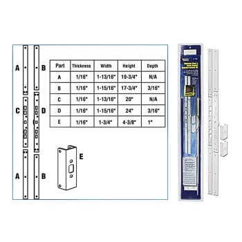 Door Jamb Repair/Reinforcement Kit