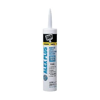 DAP 18156 Clear Alex Plus Caulk - 10.1 oz tubes