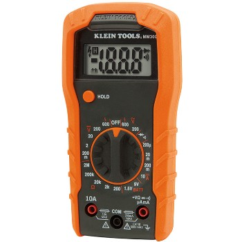 "Klein Tools MM300 Manual-Ranging 600v Digital Multi-Meter ~ 6"" H x 1.78"" D"