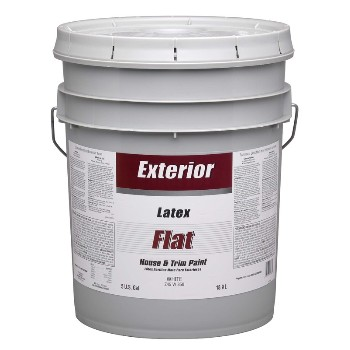 Dutchboy Z45W00850-20 Exterior Latex Paint, Flat White ~ 5 Gallon
