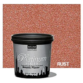 Platinum Series Metalllic Plaster,  Rust ~ Quart