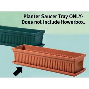 "Myers Ind SVN24000E35 Venetian Flowerbox Saucer,  Clay ~ 24"""