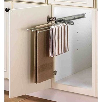 Sliding Towel Rack, 3 Bar ~ Anochrome