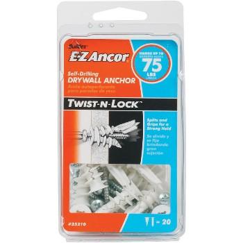 ITW/Ramset 25210 Twist-N-Lock  Drywall Anchor, 75 lb ~  Pack of 20