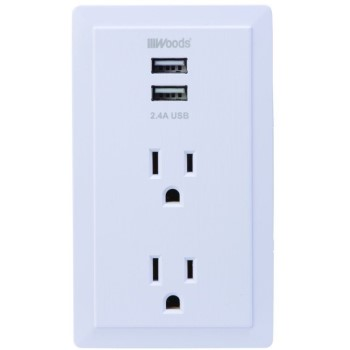 Wall Tap w/ USB ~ 2 Outlets