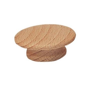 Round Wood Knob, 2 - 1 / 2 inches.
