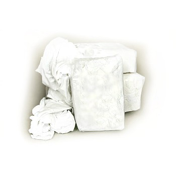 Wiping Cloths, Knit White 1 lb.