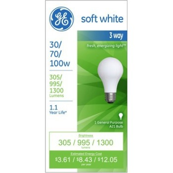 GE 97493 3-Way Bulb, 30/70/100 watt