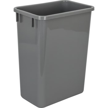 Hardware Resources CAN-35GRY Can35gry 35 Quart Trash Can